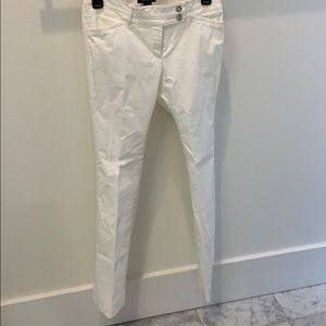 White House Black Market White Cotton Lined Pants